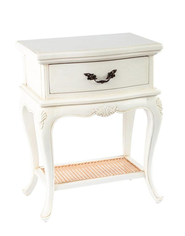 Avignon Bedside Table White