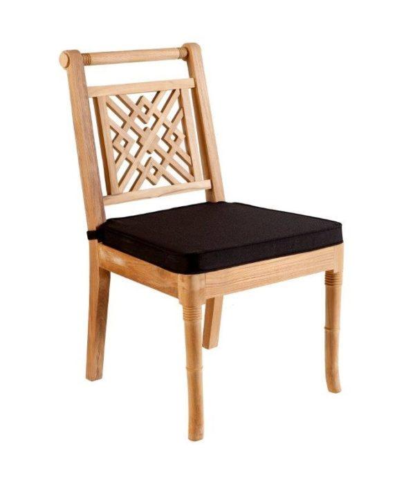 Portofino Outdoor Teak Dining Chair with Cushion