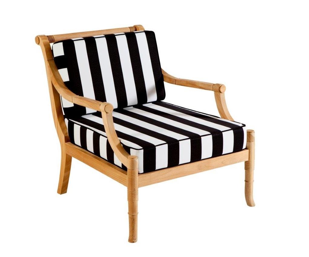 Products pfoc tk portofino occasional chair teak with cushions front jpg