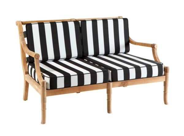 Portofino Outdoor Teak 2 Seater Sofa with Cushions