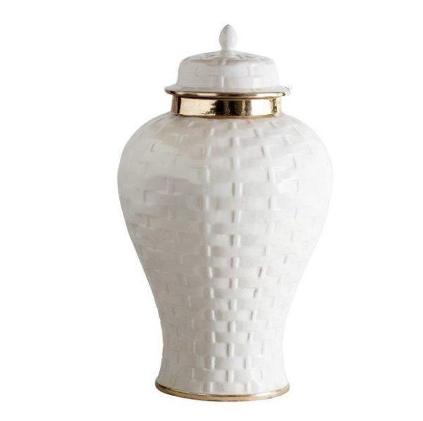 Basket Weave Ginger Jar Large