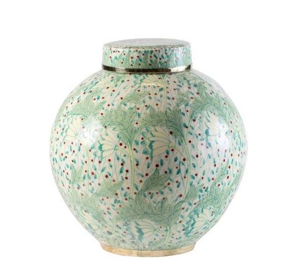 Dew Drop Round Ceramic Jar
