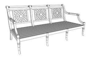 Portofino Outdoor Teak 3 Seater Sofa Frame Only
