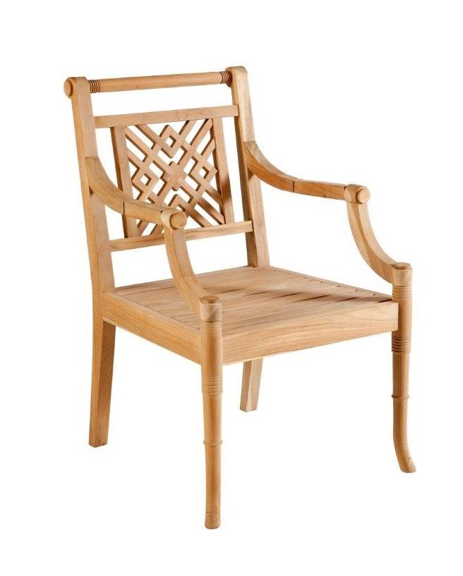 Portofino Outdoor Teak Carver Chair