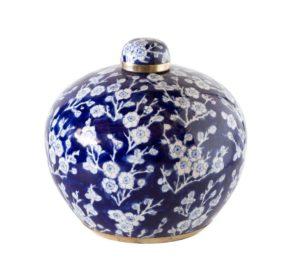 Cherry Blossom Round Ceramic Jar