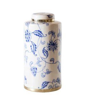 Ginger Flower Tall Ceramic Jar