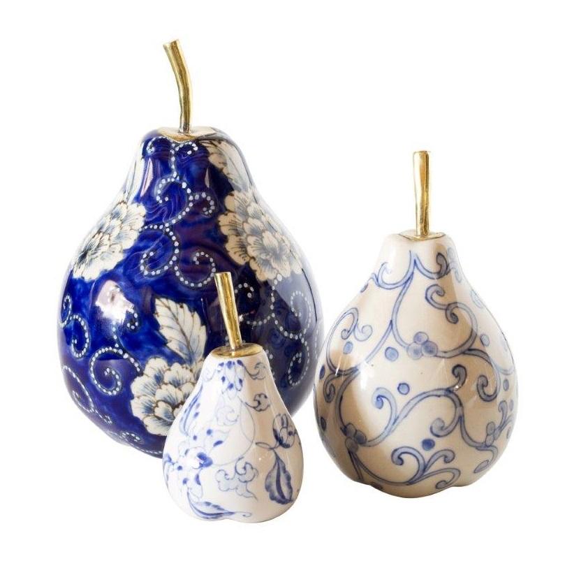 Sousaku Ceramic Pears Set 3