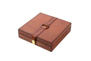 Leather Square Box