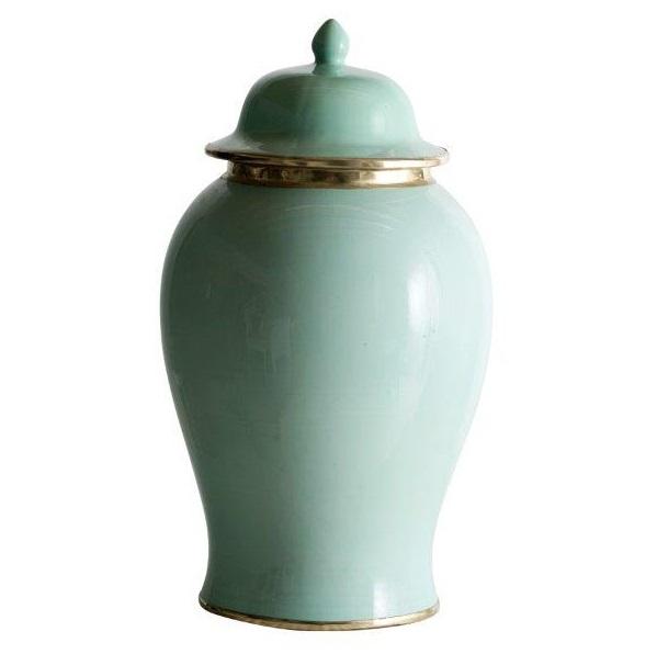Soft Green Ginger Jar Large