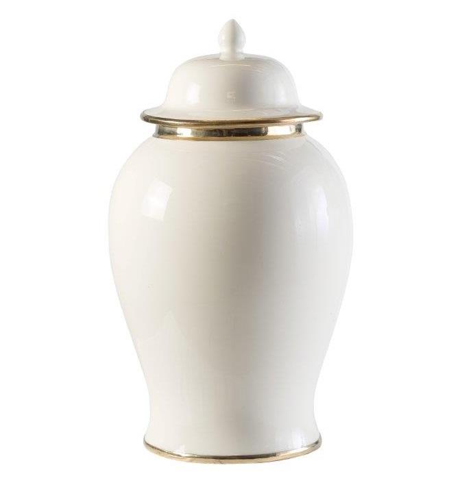 Ivory Gloss Ceramic Ginger Jar