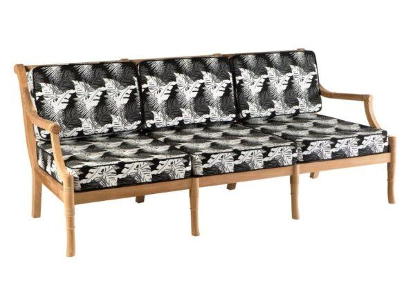 Portofino Outdoor Teak 3 Seater Sofa with Cushions