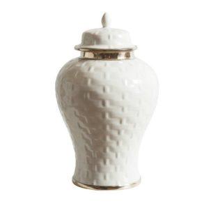 Basket Weave Ginger Jar Medium
