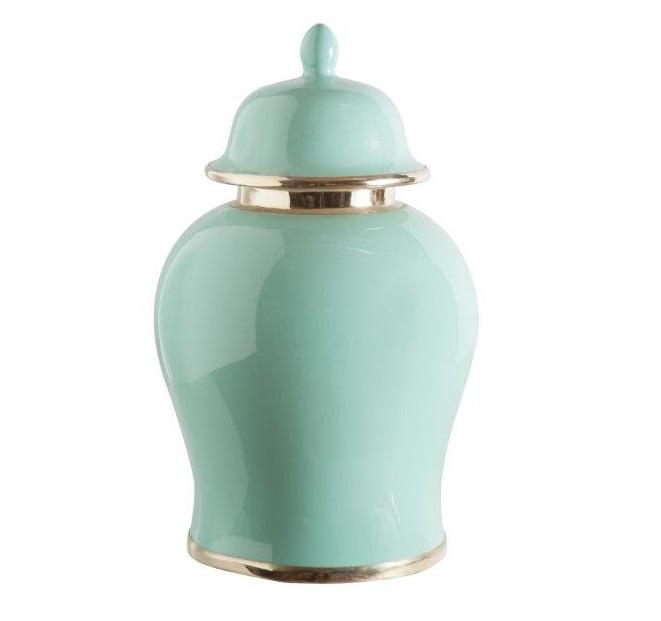 Soft Green Ginger Jar Medium